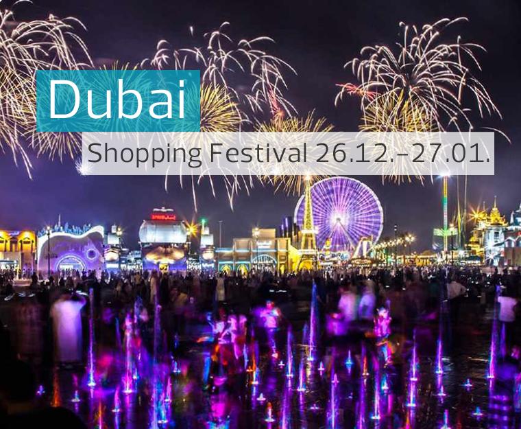 DUBAI : SHOPPING FESTIVAL - AVIO I HOTEL OD 459 EUR!
