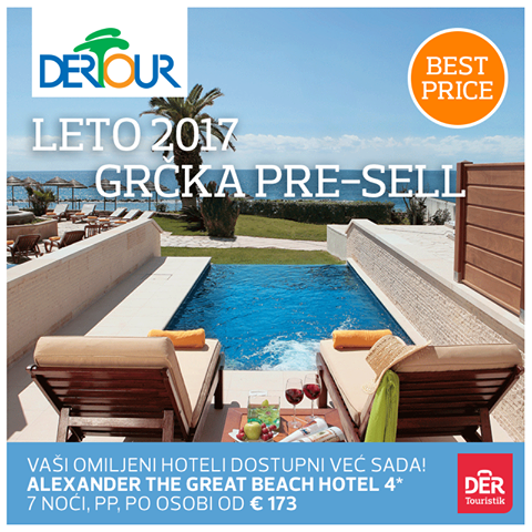 Hotel ALEXANDER THE GREAT BEACH 4*, Halkidiki: 7 noćenja u junu od 173 eur!