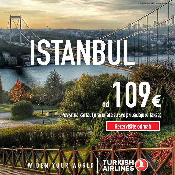 AVIOKARTE ZA ISTANBUL OD 109 EUR!